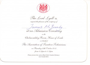 House of Lords James McBrearty invite