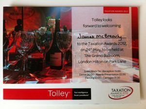 The Tolley Taxation Awards 2012