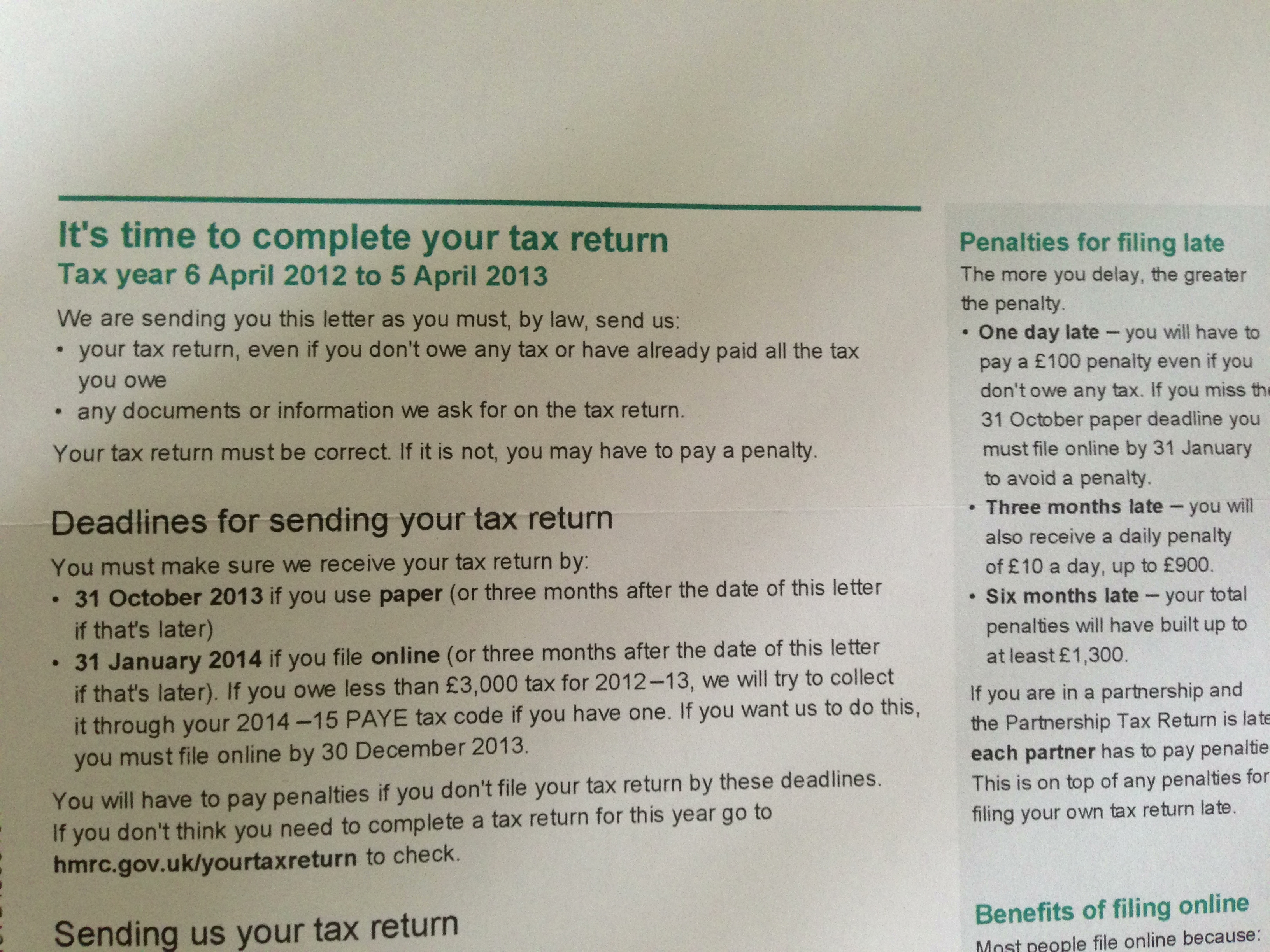 Time to complete your 2013 tax return