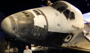 James McBrearty visiting the Atlantis Space Shuttle