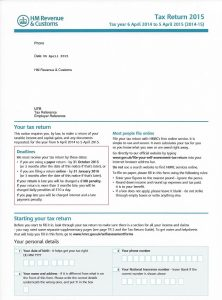 2015 SA100 Tax Return Form