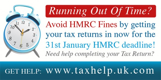 31st January HMRC tax return deadline