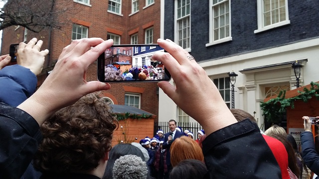 George Osborne outside Number 11 for Small Business Saturday