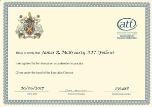 James McBrearty ATT Fellow Member in Practice 2016 2017