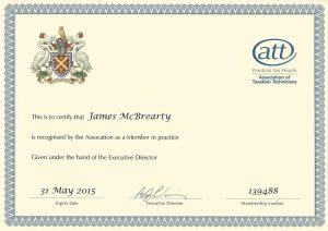James McBrearty ATT Member in Practice 2014/15