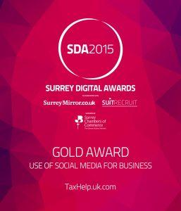 James McBrearty, Gold Award for Business Social Media 2015