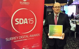 James McBrearty is an award winner at the Surrey Digital Awards