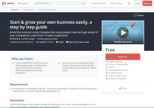 Start and grow a small business easily course