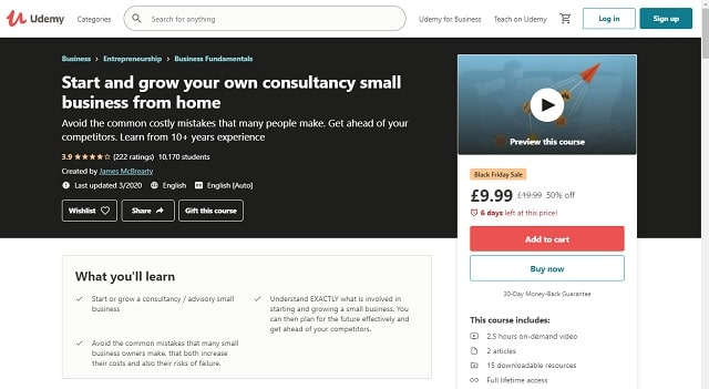 James McBrearty online course for consultants