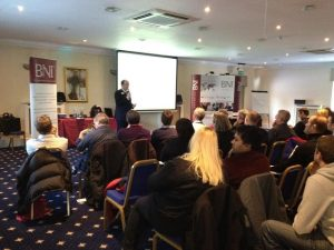 James McBrearty presenting to business owners