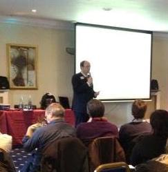 James McBrearty presenting
