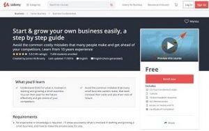 James McBrearty small business course on udemy
