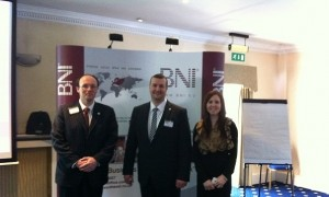 James McBrearty, Tim Kidd, Zoe Cairns - presenters for BNI