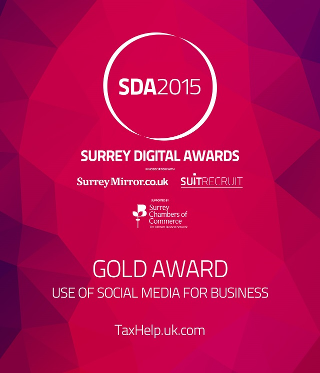 SDA2015 taxhelp.uk.com Gold Award for use of social media for business