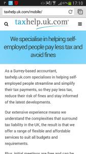 taxhelp.uk.com mobile site 2014