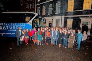 Small Business Saturday Bus Downing Street James McBrearty