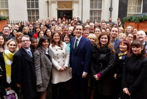 Small Business Saturday Group Photo at No11 Downing Street