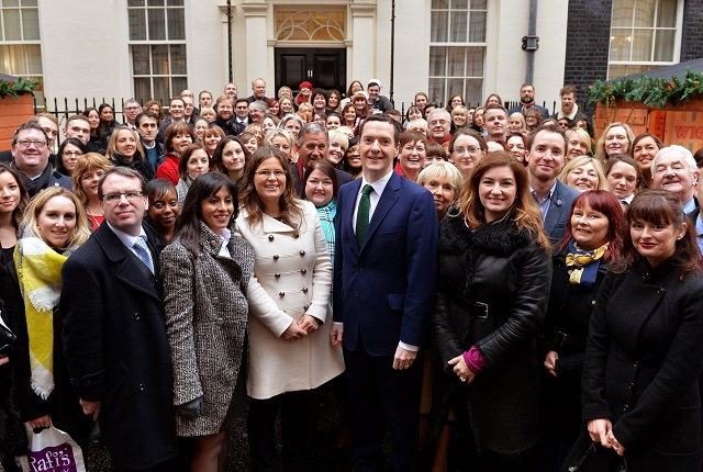 Chancellor Osborne welcomes small businesses to Downing Street