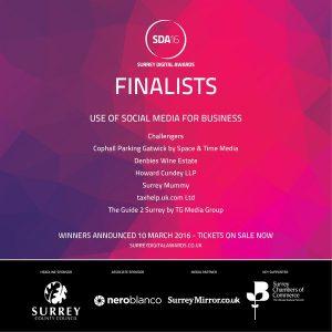 Social Media for business finalists SDA2016