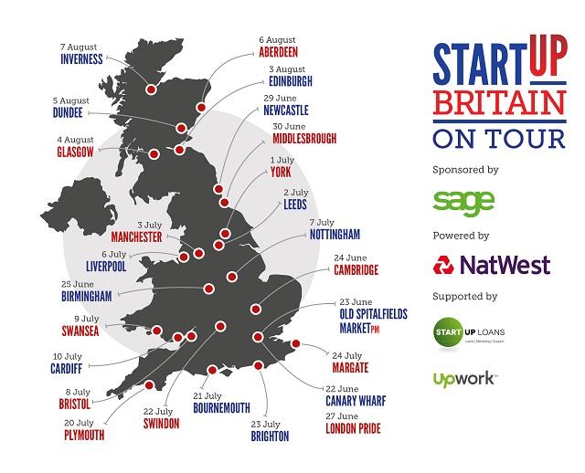 StartUp Tour Map