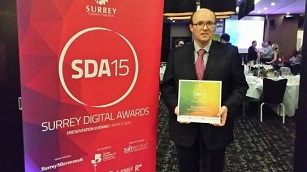Surrey Digital Awards 2015 - Gold winner James McBrearty