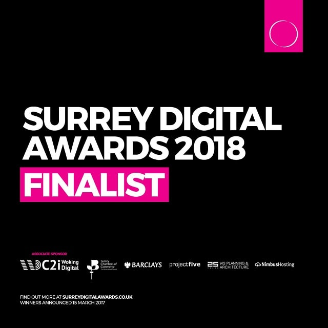 taxhelp UK is a Surrey Digital Awards 2018 Finalist