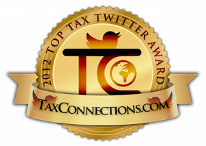 James McBrearty awarded a 2012 Top Tax Twitter award - emblem
