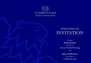 St. James's Place invitation to Denbies