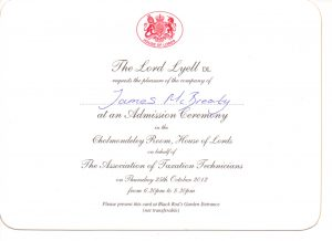 Invitation to the House of Lords