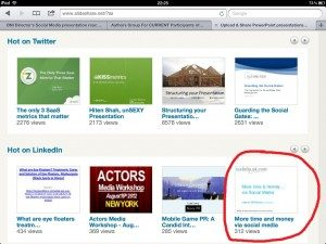 My 'More time & money via social media' presentation is the top one on LinkedIn! - small
