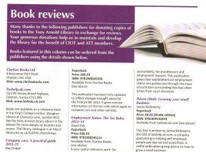 James McBrearty's new book in Tax Adviser magazine 1