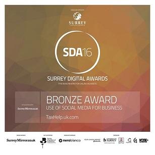 taxhelp.uk.com in the 2016 Surrey Digital Awards - 307