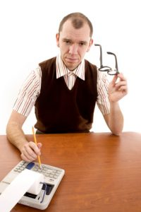 typical image of an accountant
